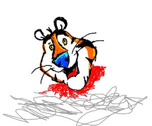 Tony the Tiger, beheaded