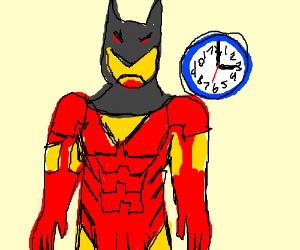 Iron man dresses up as batman at 3 o clock