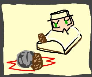 Stone landing on Amputated leg/foot