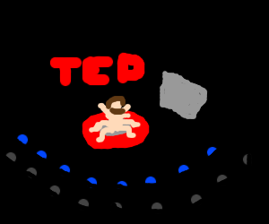 Talk show of Ted, the human spider