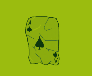 Crumpled Ace of Spades