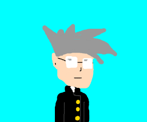 Anime guy with gray hair