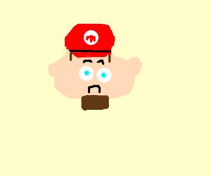 sad mario with beard