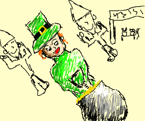 Leprechaun at a Fiesta