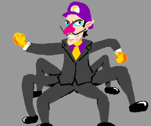Walegmo (Waluigi, Legdad and Yellmo fusion)