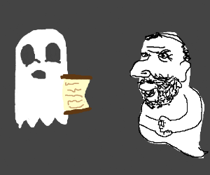 Incorporeal ghost shows scroll to Jewish ghost