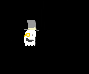 Happy merchant ghost