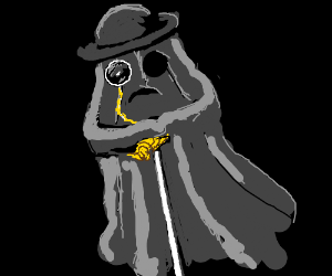 Gentleman ghost with monocle.