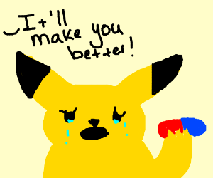 It's time for some methadone, Pikachu
