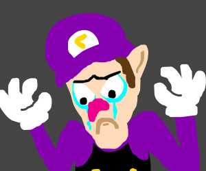 Waluigi is depressed and lost his purpose