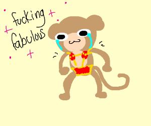 monkey with maraca nips