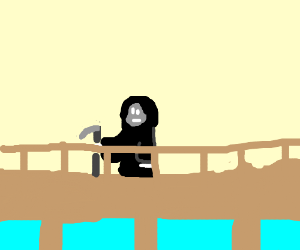 death waits on a bridge?