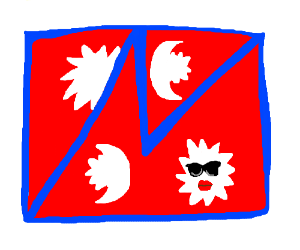 Flag of Nepal but it's square?