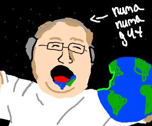 Numa Numa guy eats the Earth.