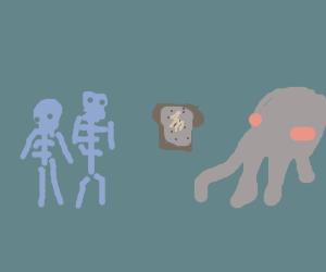 skeletons toast cthulhu