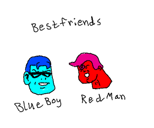 Blue Boy and Red Man are Friends in Real Life