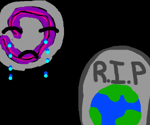 Black hole mourns the death of Earth