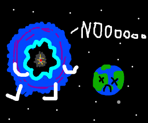 Nebulosa w/ hands and legs mourning for Earth