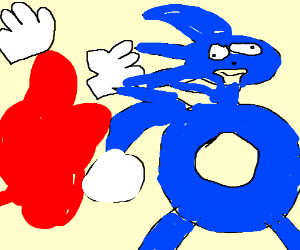Knuckles has been dissolved. Sonic unfazed