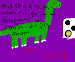 turned from dinosor into dinsaur (cont story)
