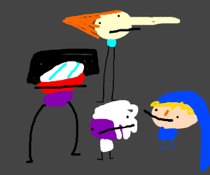 Garnet Amethyst and Pearl. AND REED