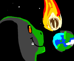 t. rex enjoys watching extinction by comet