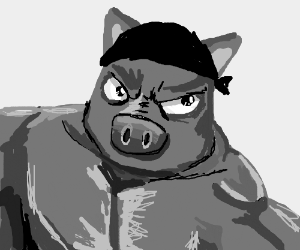 Angry pig