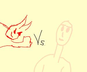 Street fighter: white man vs Satan! Finish him