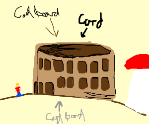 Colesseum is apparently cardboard, now.