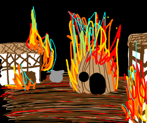 I came back to my village in flames