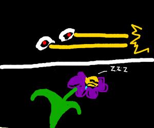 purple chimera laser-eyes a sleeping flower