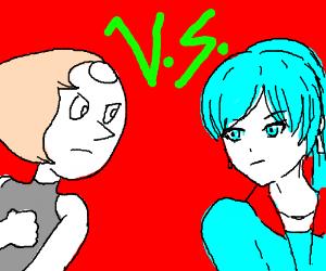 Pearl (Steven Universe) vs Weiss Schnee (RWBY)