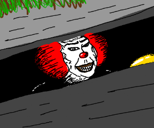 Pennywise the clown is so creepy... jeez