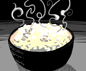 Hot cup of rice