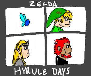 Demon days album (gorillaz) but zelda parody