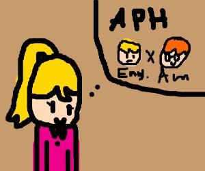 Girl hopes for EnglandxAmerica (aphUSUK)