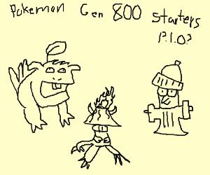 Pokemon Gen 800's Starters