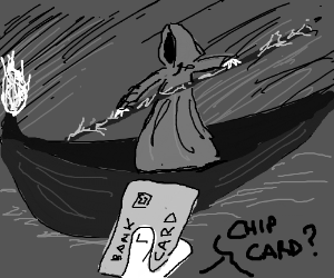 Charon the ferryman also accepts chipcards now