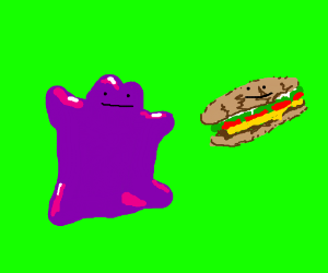 ditto with a sandwich