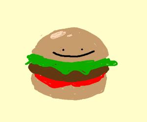 ditto became a hamburger