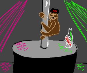 dilligaf the Russian pole dancing sloth