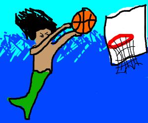 Merman Learns Basketball