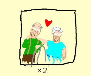 Two lovely old couple