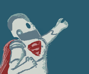 Iron Giant wants to be Super Man