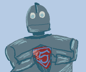 Superman's real identity: The Iron Giant