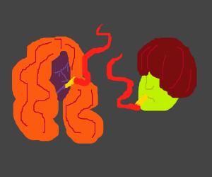 two guys smoking