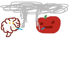 peanut brain and pumpkin head smoking