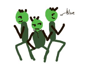 The blue man group na na na na na na