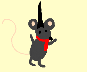 Mouse with fancy scarf and headress
