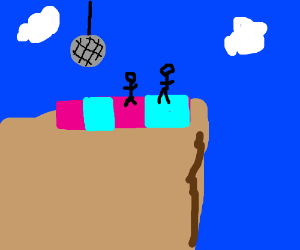 A disco party about to fall off a cliff